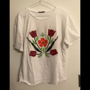 Leather Flower T-Shirt